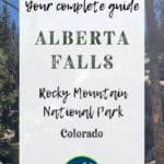 Alberta Falls in Rocky Mountain National Park Estes Park Colorado