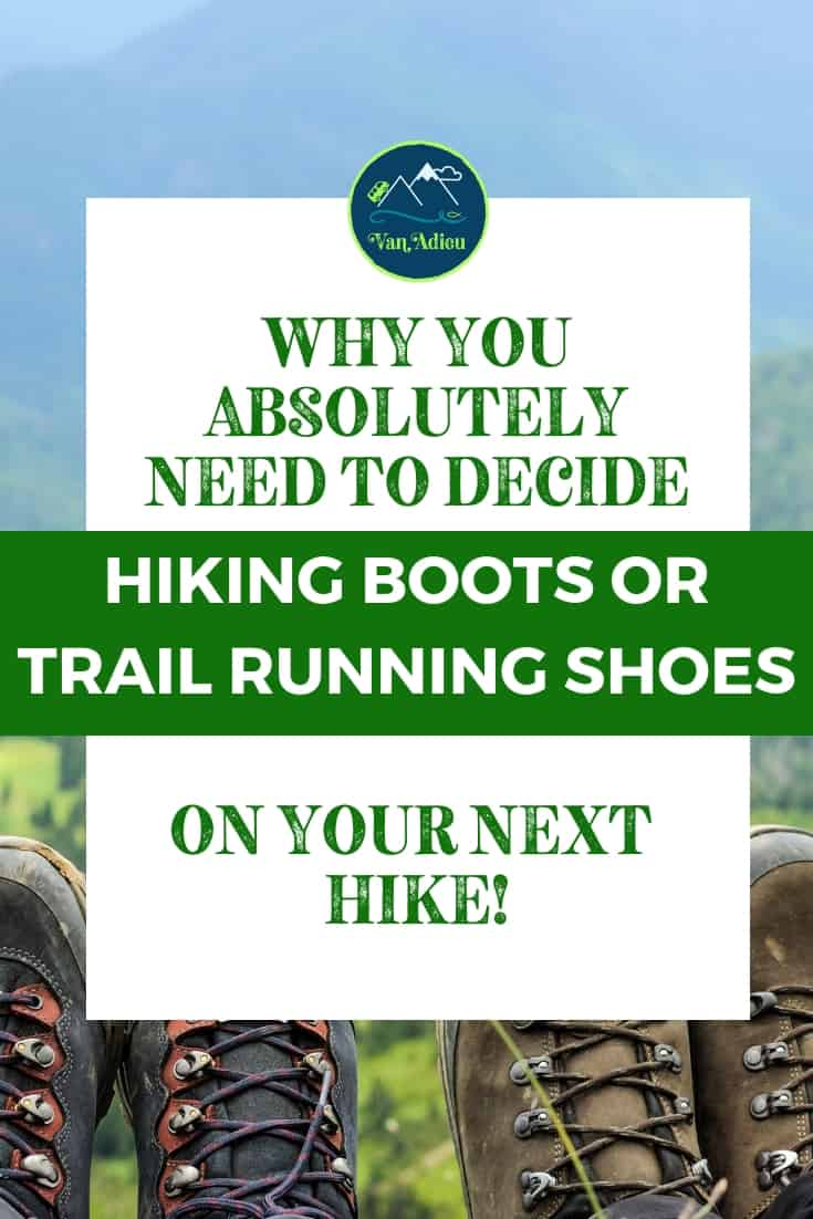 Outdoor adventures need the proper gear! Make sure you know whether trail running shoes or hiking boots are right for you with our infographics and ultimate guide!