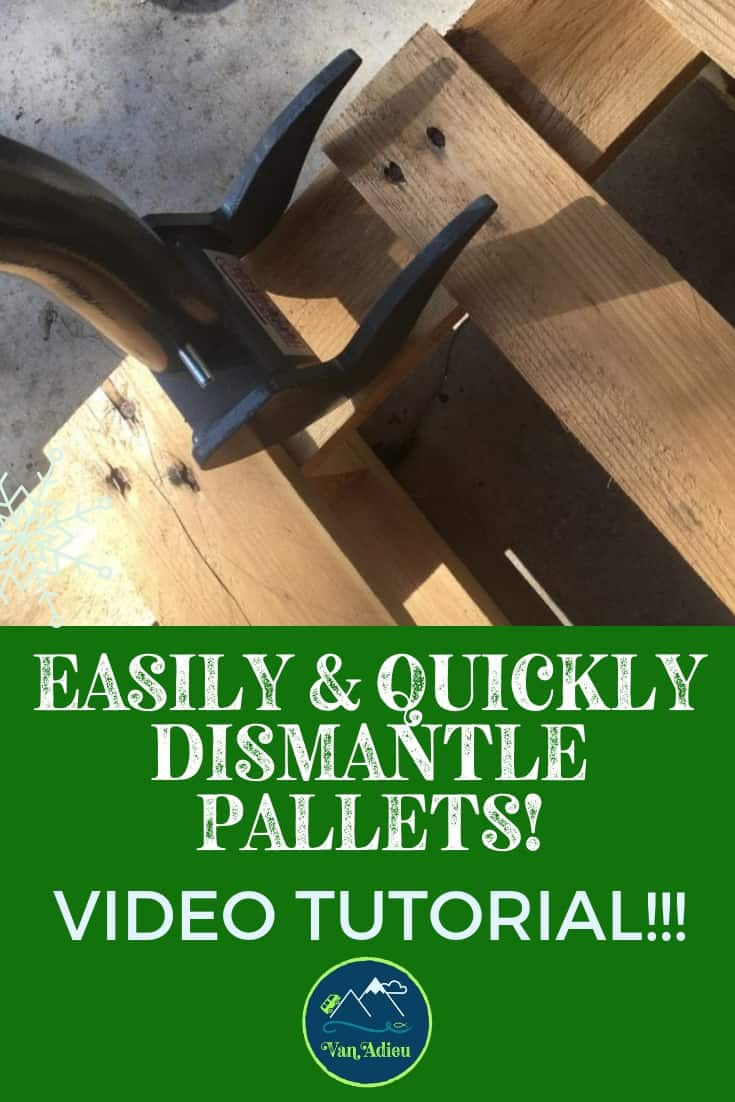 How to Dismantle a Pallet without breaking boards and with no power tools!