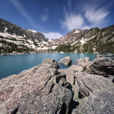 Lake Haiyaha Hike in Rocky Mountain National Park, Estes Park, Colorado‎