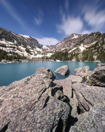 Lake Haiyaha Hike in Rocky Mountain National Park, Estes Park, Colorado