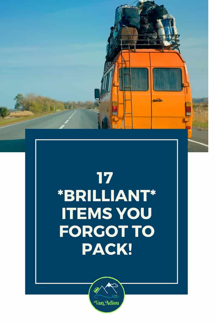 17 items you forgot to pack for your camping road trip!