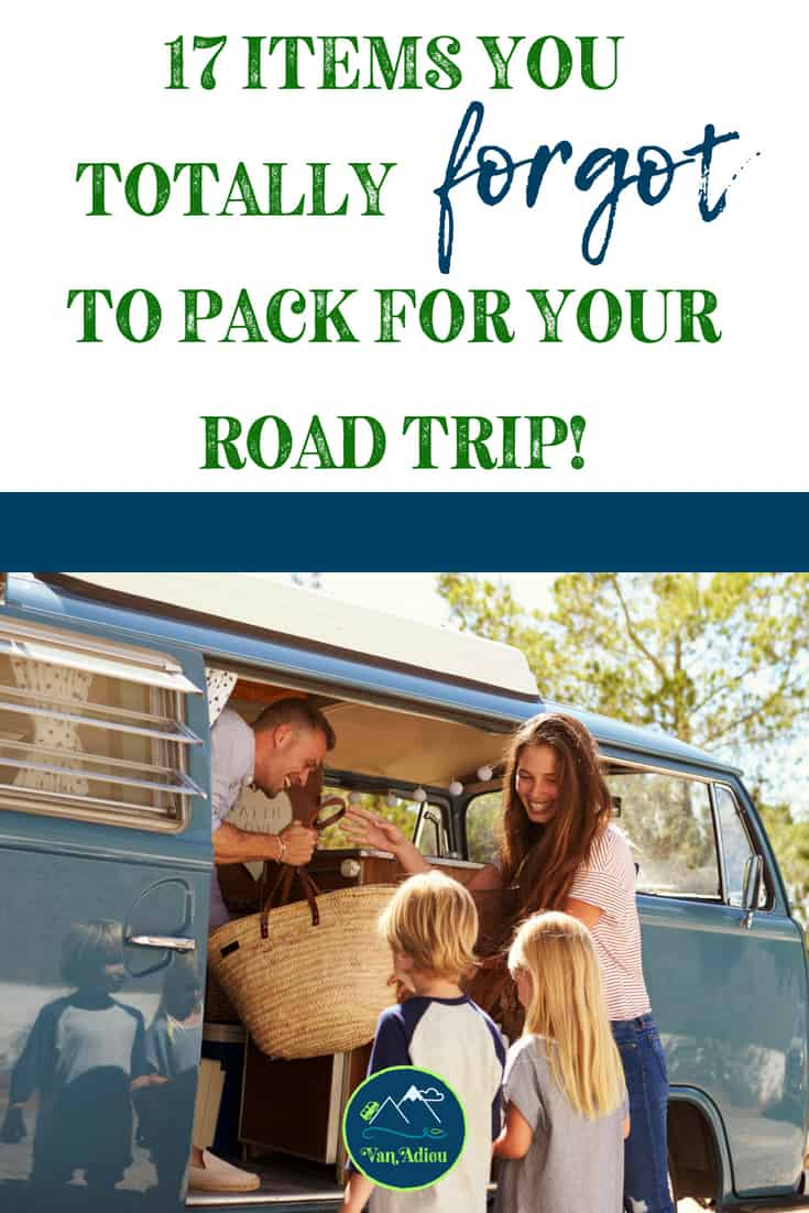 17 items you need on your packing list for your camping trip or family road trip!