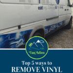 Top 5 Ways to Remove Vinyl from your Sprinter Van