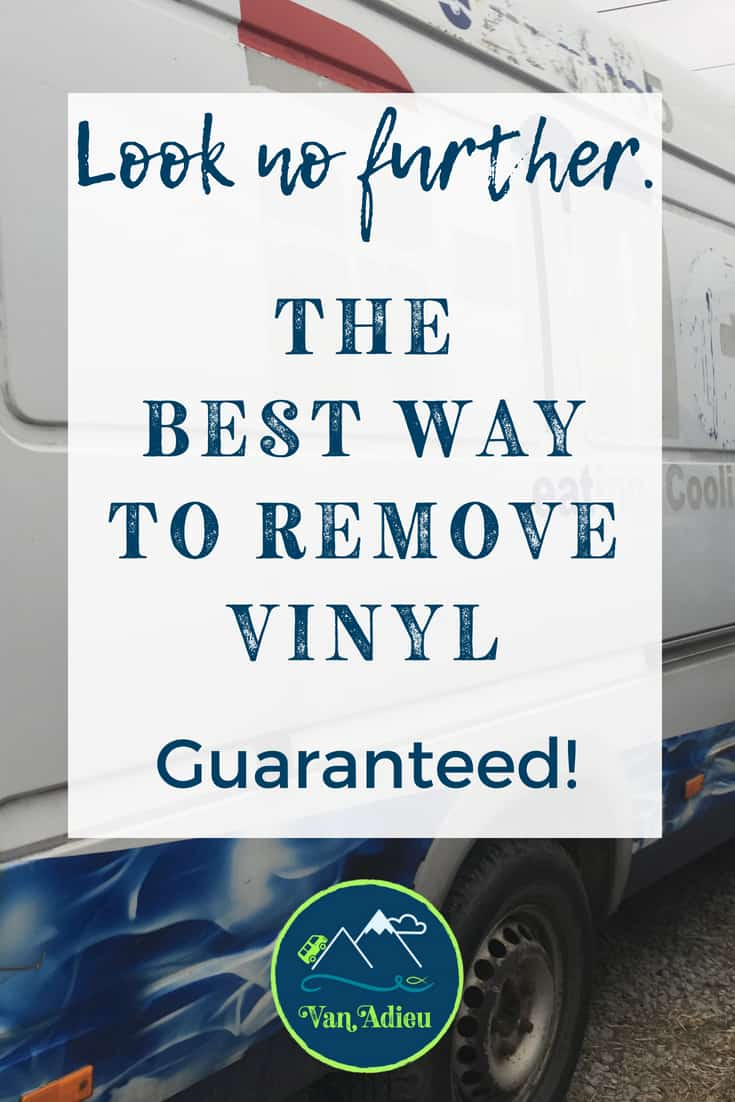 The Guaranteed Best Way to Remove Vinyl from a vehicle or Sprinter Van!