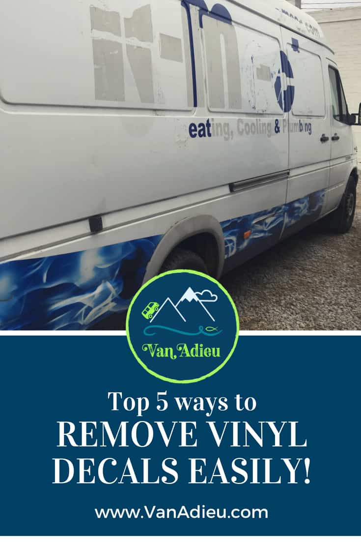 The Guaranteed Way to Easily Remove Vinyl Decals, Vinyl Lettering and Bumper Stickers from any Sprinter Van (or vehicle!) GUARANTEED!