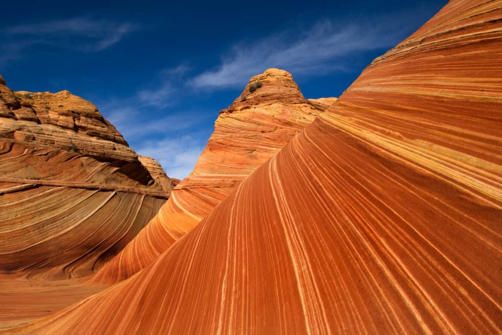 National Parks Pass allows you to see National Parks like this red wave rock formation in Utah.
