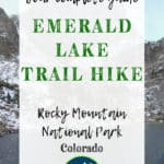 Emerald Lake Rocky Mountain National Park Estes Park Colorado