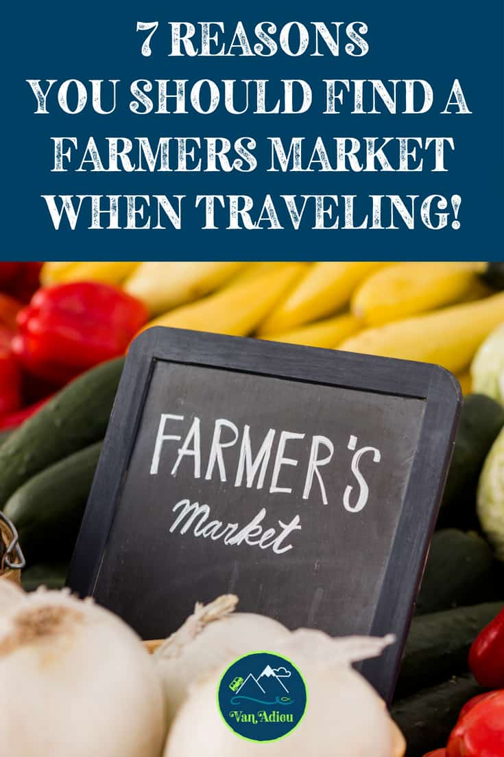 Find a Farmers Market in your Sprinter Van on your Road Trip!