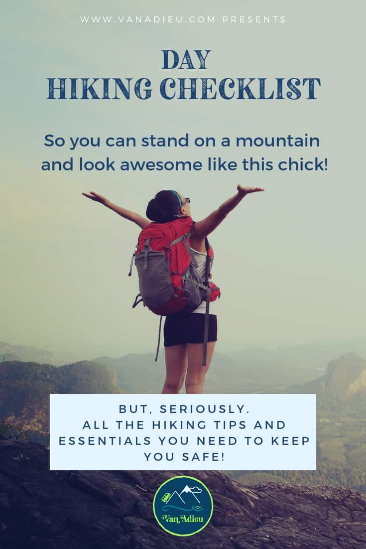 This Amazing Day Hiking Checklist has all the essential gear, safety items, tips and gear hikers of all levels from beginning to expert will need for their next outdoor travel destination!