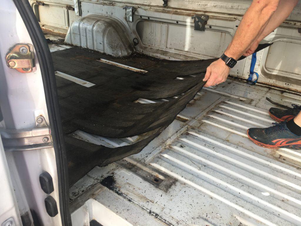 Flooring of Sprinter Van Preparing a Sprinter Van for Conversion