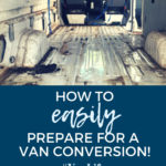 Preparing to build a campervan and sprinter van conversion to a tiny home
