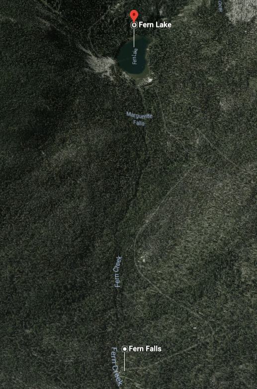 Stop 3 - Fern Falls to Fern Lake - Fern Lake Trailhead