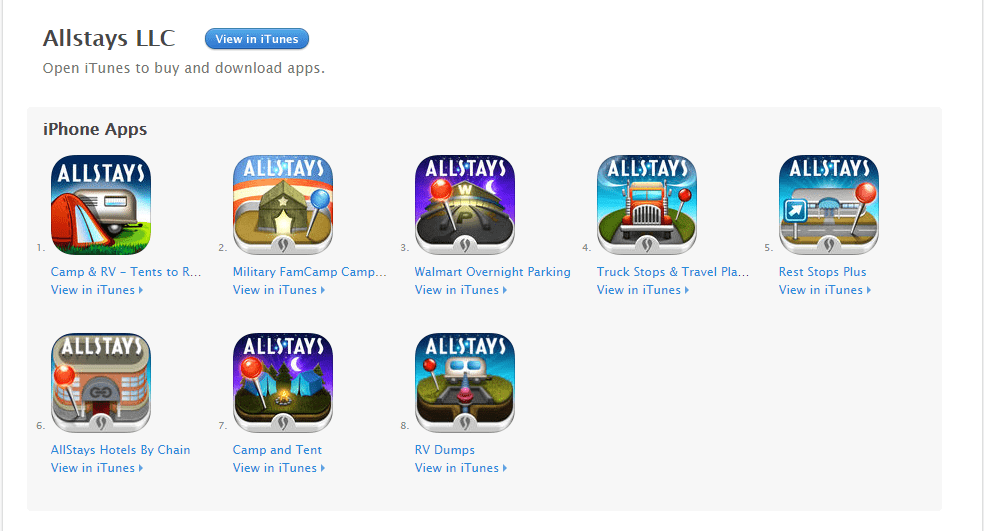 Allstays Best Camping Apps