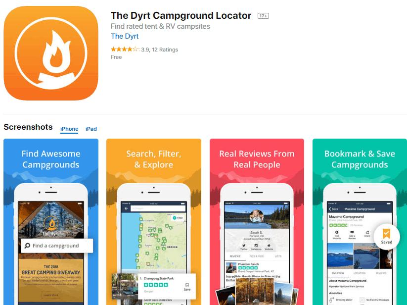 Dyrt app