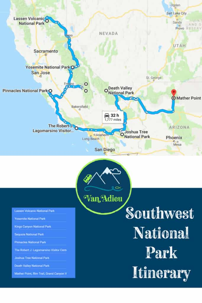 Southwest National Park Itinerary