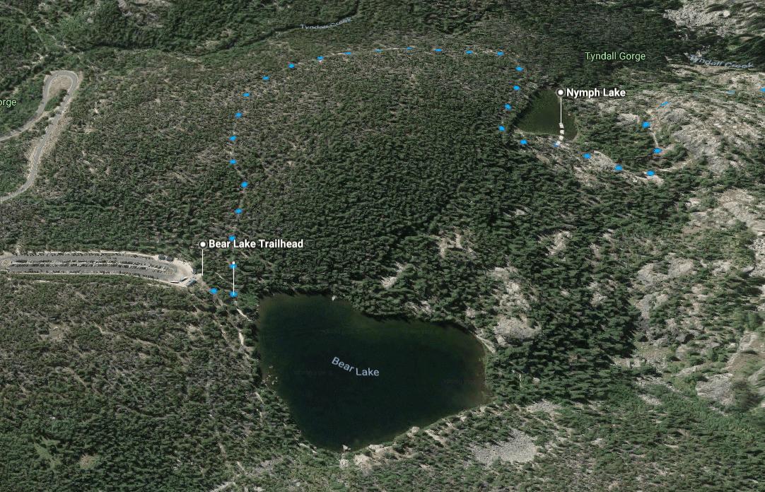 Bear Lake to Nymph Lake Trail