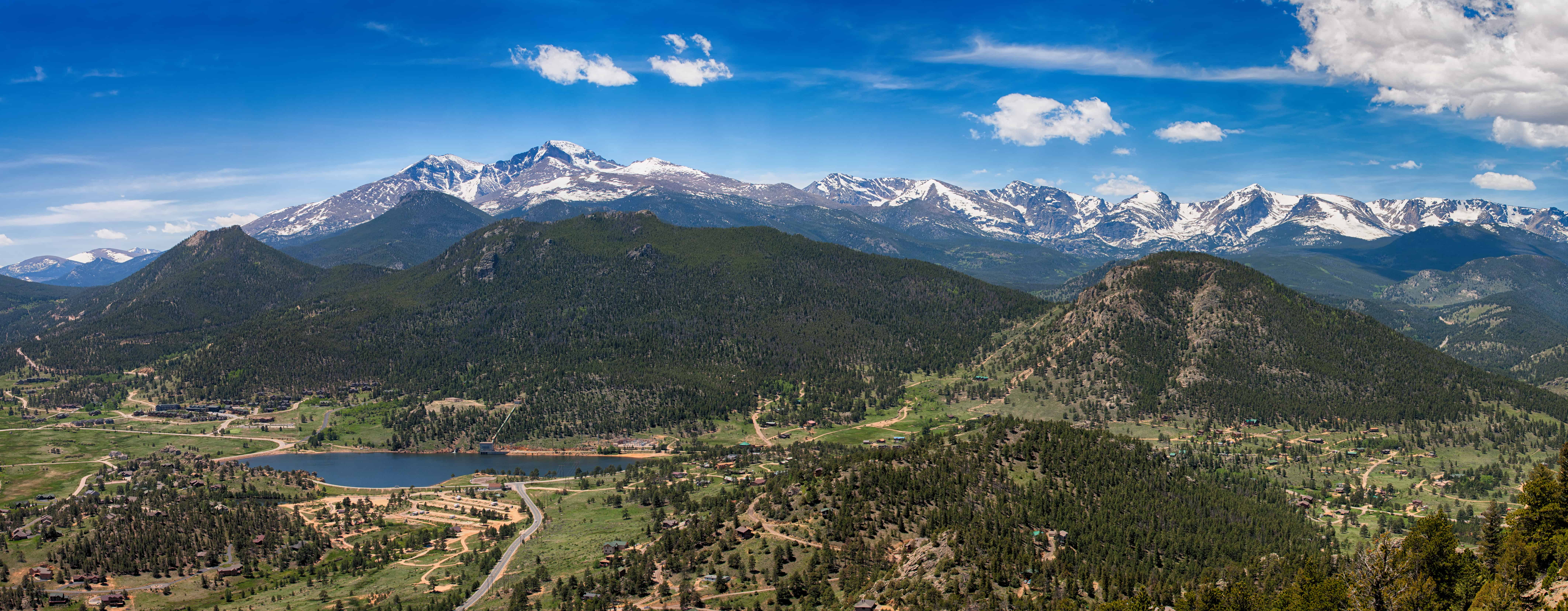 Panoramic view of Rocky mountains from Prospect Mountain,