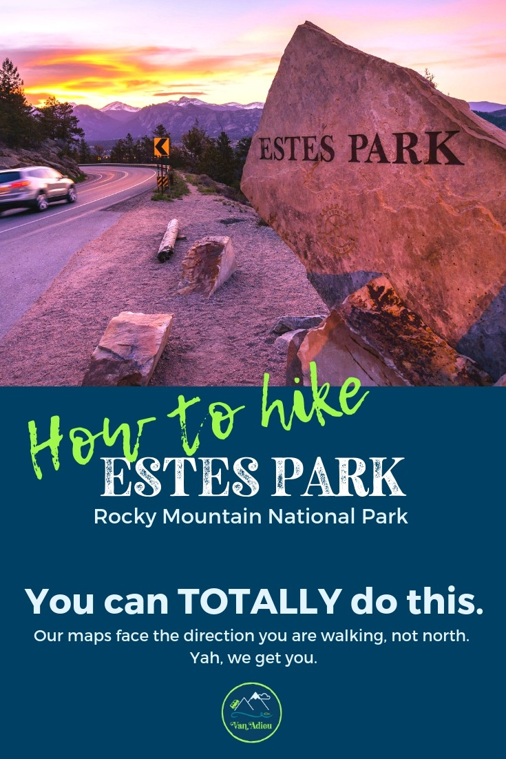 You can hike Rocky Mountain National Park near Estes Park Colorado!