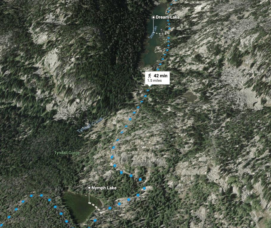Nymph Lake to Dream Lake Hike