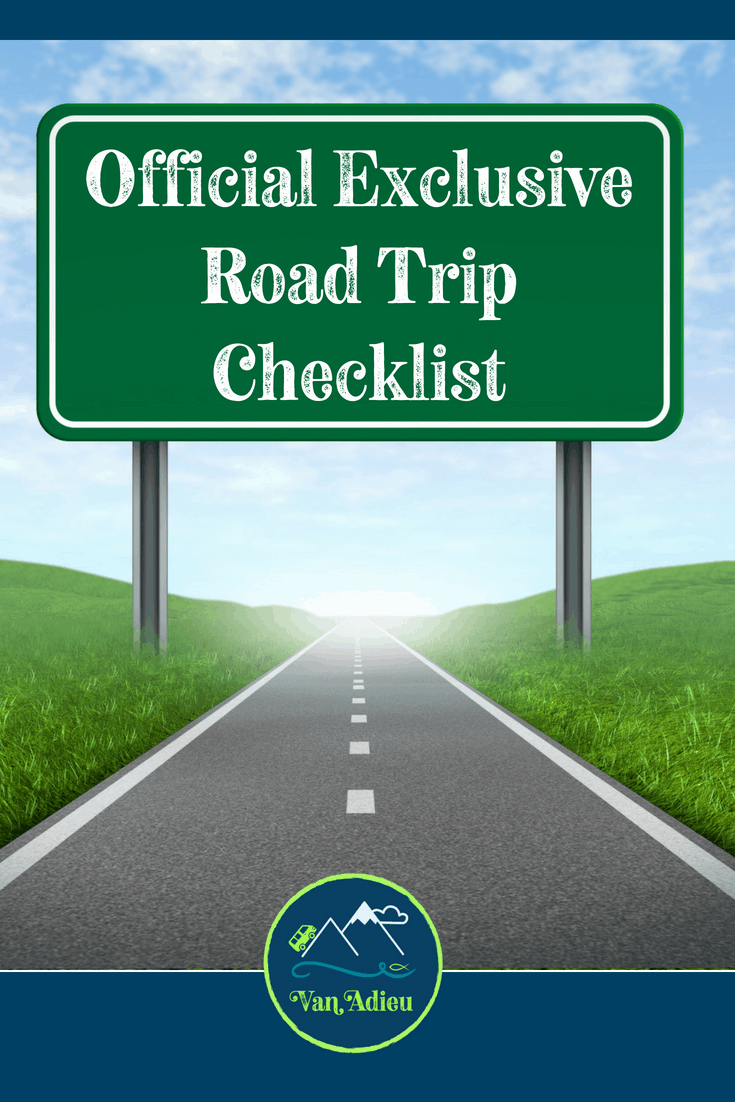 Official Exclusive Road Trip Checklist!