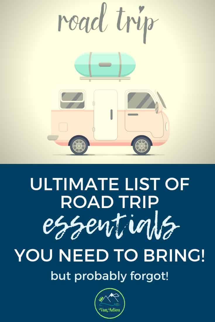 List of Road Trip Essentials for your next family vacation!
