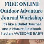 Nature Journal Ideas plus how to start a bullet journal combined! From field notebook DIY ideas to bullet journal simple layouts to nature journal inspiration, this Outdoor Adventure Journal will show you how to combine a planner, to-do lists, drawing, mixed media, and journal writing all in one! And its FREE! #VanAdieu #StopWastingWeekends #BulletJournal #BuJo #NatureJournal #FieldNotebook #OutdoorAdventureJournal