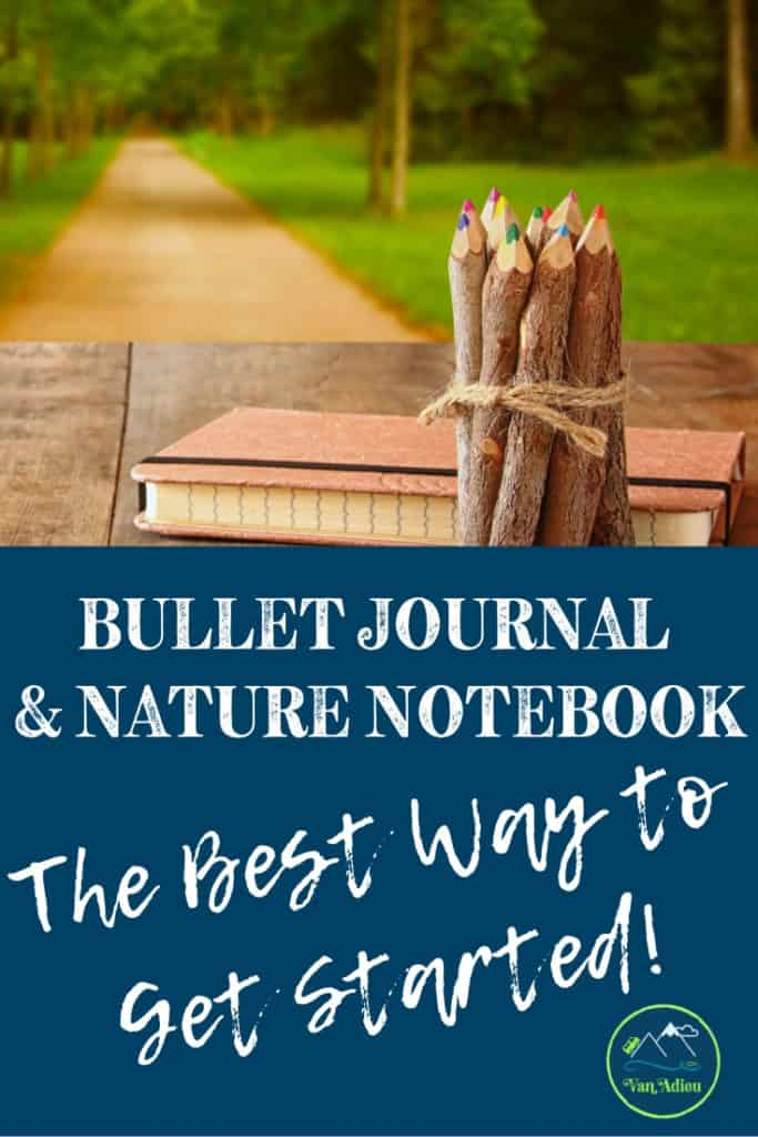 How to Start your Outdoor Adventure Journal with Nature Journaling Ideas Inspiration and More! Learn Bullet Journaing techniques as well as how to do a nature study, learn to draw leaves, trees, and more, as well as mixed media art!
