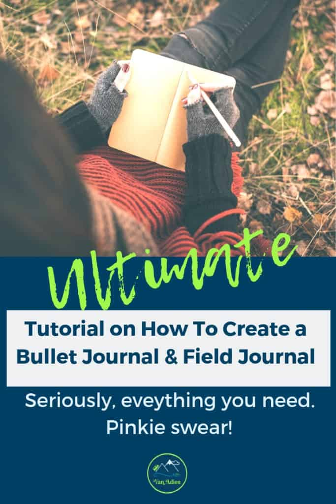 Start Your Outdoor Adventure Journal with these Outdoor Journal Ideas and Inspriation! Fun ideas for a nature journal, bullet journal, or field notebook! Learn to draw nature, leaves, tress, as well as create your own notebook!