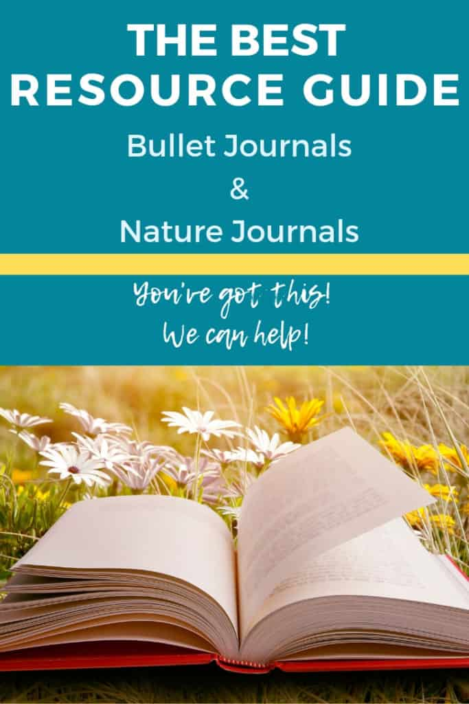 The Ultimate Guide (including videos!) of nature journal resources that will help you with your bullet journal, nature journal, or field notebook! Learn how to make your own journal or notebook, study nature, and record experiences, and plan for the future all in one place!