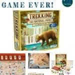 Trekking the National Parks Board Game is the ultimate family board game for players who want to have fun and compete in their race to see all the U.S. National Parks! Travel across the country in this competitive and educational MENSA award winning board game!