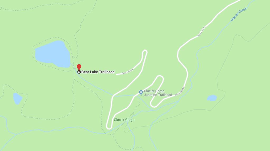 Bear Lake Trailhead Map