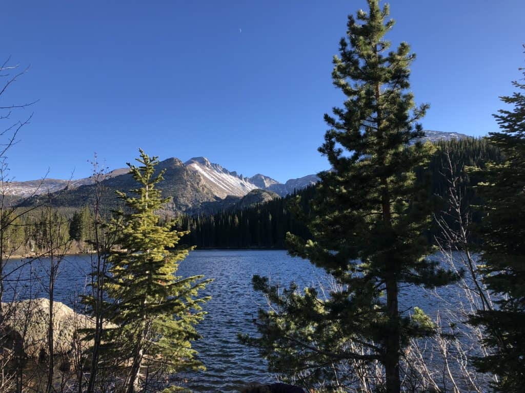 RMNP has the most beautiful trails for hiking, and Bear Lake in Colorado is awesome and fun, and a highlight of Rocky Mountain National Park. #BearLake #Colorado #EstesPark #RockyMountainNationalPark #VanAdieu #StopWastingWeekends #RMNP #hiking #NationalParks